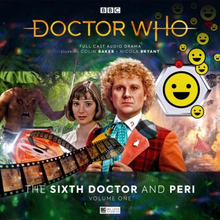 Capa dos áudios do Sexto Doutor com a Peri